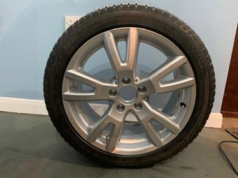 Genuine set of 4 Mercedes-Benz Alloy wheels with Michelin winter tyres